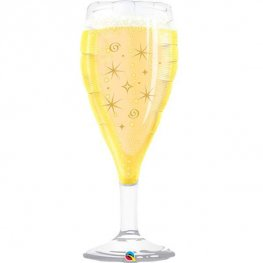 Celebrate Champagne Glass Shape Balloons