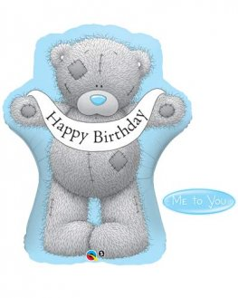 Me To You Tatty Teddy Birthday Banner Balloons