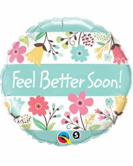 "18"" Feel Better Soon Floral Foil Balloons"