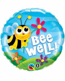 "18"" Bee Well Flowers Foil Balloons"