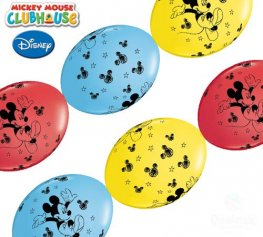 "12"" Mickey Mouse Quick Link Latex Balloons 50pk"