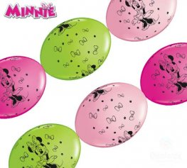 "12"" Minnie Mouse Quick Link Latex Balloons 50pk"