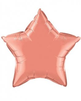 "20"" Coral Star Foil Balloon"