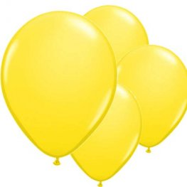 "11"" Yellow Latex Balloon 6pk"