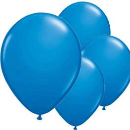 "11"" Dark Blue Latex Balloon 6pk"