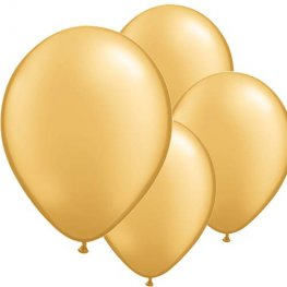 "11"" Gold Latex Balloons 6pk"
