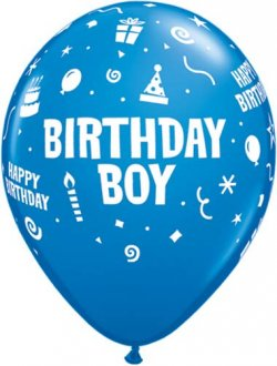 "11"" Birthday Boy Latex Balloons 6pk"