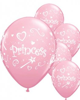 "11"" Princess Latex Balloons 6pk"