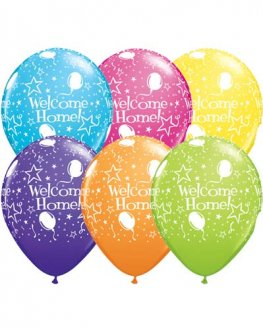 "11"" Welcome Home Stars Latex Balloons 6pk"