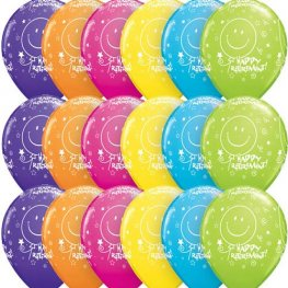 "11"" Retirement Smile Face Latex Balloons 6pk"