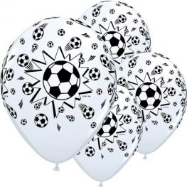 "11"" Footballs Latex Balloons 6pk"