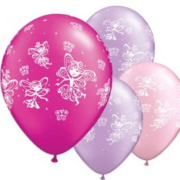 "11"" Fairies And Butterflies Latex Balloons 6pk"