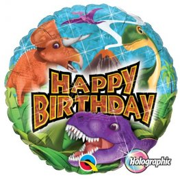 "18"" Happy Birthday Dinosaurs Foil Balloons"