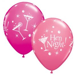 "11"" Hen Night Bubbly Latex Balloons 25pk"