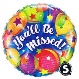 "18"" You Will Be Missed Balloons Foil Balloons"