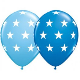 "11"" Big Stars Assorted Latex Balloons 25pk"