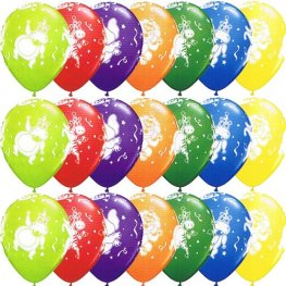 "11"" Party Animals Latex Balloons 25pk"