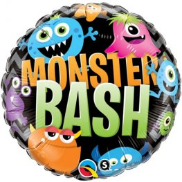 "18"" Monster Bash Chevron Halloween Foil Balloons"