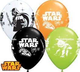 "11"" Darth Vader And Yoda Latex Balloons 25pk"