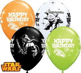 "11"" Star Wars Birthday Latex Balloons 25pk"