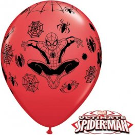 "11"" Spider Man Latex Balloons 25pk"