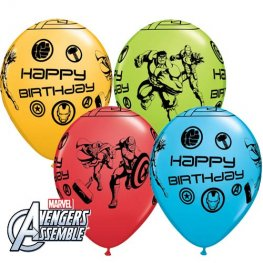 "11"" Avengers Assemble Birthday Latex Balloon 25pk"