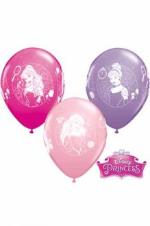 "11"" Disney Princess Cameos Latex Balloons 25pk"