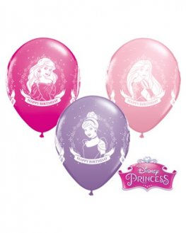 "11"" Disney Princess Birthday Latex Balloons 25pk"