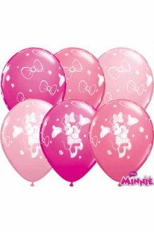 "11"" Minnie Mouse Latex Balloons 25pk"