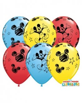 "11"" Mickey Mouse Latex Balloons 25pk"