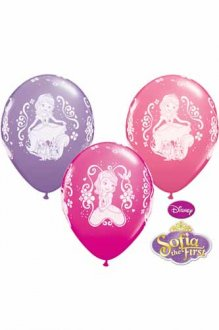 "11"" Sofia The First Latex Balloons 25pk"