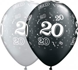 "11"" 20 Around Latex Balloon 25pk"