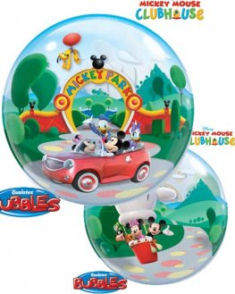 "22"" Mickey Park Single Bubble Balloons"