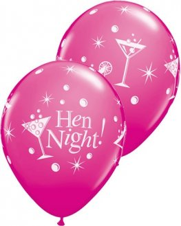 "11"" Hen Night Bubbly Latex Balloons 6pk"