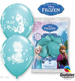 "12"" Disney Frozen Latex Balloons 6pk"