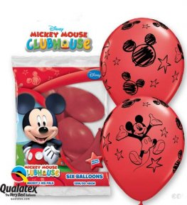 "12"" Mickey Latex Balloons 6pk"