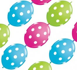 "12"" Big Polka Dots Quick Link Party Banner 10pk"