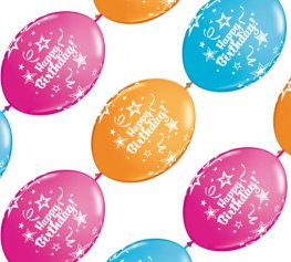 "12"" Happy Birthday Quick Link Party Banner 10pk"