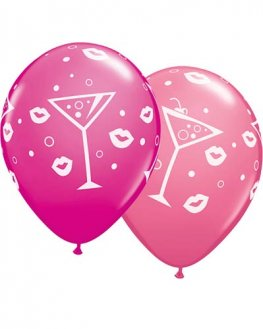"11"" Mixed Drinks And Bubbly Latex Balloons 25pk"