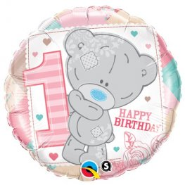 "18"" Me To You Tiny Tatty 1st Birthday Girl Foil Balloons"