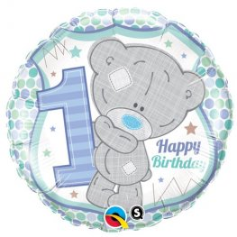 "18"" Me To You Tiny Tatty 1st Birthday Boy Foil Balloons"