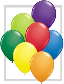 "11"" Carnival Assortment Latex Balloons 100pk"