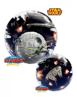 "24"" Star Wars Death Star Double Bubble Balloons"