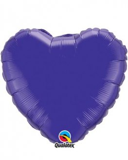 "4"" Quartz Purple Heart Foil Balloon"