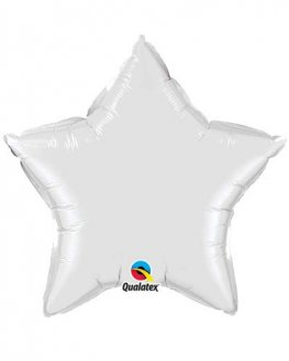 "4"" White Star Foil Balloon"