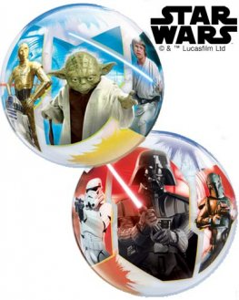 "12"" Star Wars Light VS Dark Sides Air Bubble Balloons 10pk"
