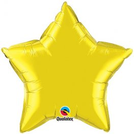 "4"" Citrine Yellow Star Foil Balloon"