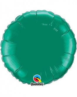 "4"" Emerald Green Round Foil Balloon"