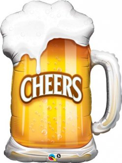 Cheers Beer Mug Shape Balloons