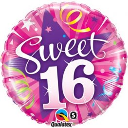 "18"" Sweet 16 Shining Star Foil Balloons"